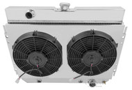 1963-1968 Chevrolet Cars 3 Row Champion Aluminum Radiator and Shroud with Dual SPAL Electric Fans