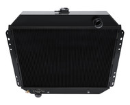 1953-1979 Ford F-100 Pickup Truck 3 Row All Aluminum Champion Black Finish Radiator