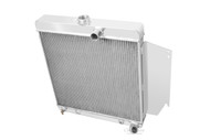 1965 1966 Plymouth Valiant 3 Row Aluminum Radiator with Slant 6