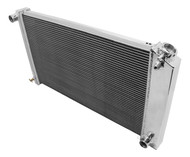1968 69 70 71 Chevy Chevelle Aluminum Champion Radiator for Manual Transmission
