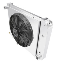 1968-1974 Nova 20in. Core 3 Row Champion Aluminum Radiator Fan Shroud Combo