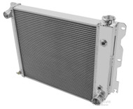 1987-2004 Jeep Wrangler YJ Chevy V8 Conv Champion 3 Row Core Crossflow Aluminum Radiator