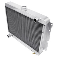 "1963 1964 1965 1966 1967 Plymouth Fury 3 Row Aluminum Radiator  22"" Wide Core"