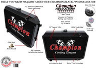 1970 1971 1972 1973 1974  Dodge Challenger 3 Row Aluminum Black Finish Radiator for Big Block