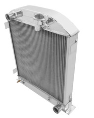 "1932 33 34 35 Ford 3"" Chopped for Chevy/Mopar ENGINE Aluminum 4 Row Radiator"