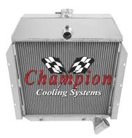 1941 42 43 44 45 46 47 48 49  International Truck Champion 2 Row Core Aluminum Radiator