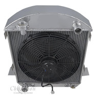 1917 1918 1919 1920 1921 1922 1923 1924 1925 1926 1927 FORD Model T Bucket 4 Row Radiator + Fan
