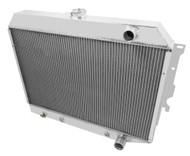 1968 69 70 71 72 73 74 Mopar with Hemi Engine 4 Row Core Aluminum Radiator