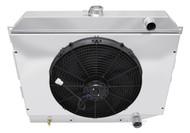 1968 69 70 71 72 73 74 Mopar with Hemi Engine 4 Row Core Aluminum Radiator Fan Shroud Combo