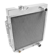 1965 1966 Ford Mustang Champion 2-Row Core 1 Inch Tubes Aluminum Radiator AE259