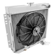 "1966 67 68 Mercury Comet 3 Row Aluminum Radiator Plus 16"" Electric Fan"