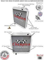 "1968 69  70 71 72 73 74 75 76 77 78 79 Ford F Series Pickup Truck 2 Row All Aluminum Welded Radiator 24"" x 26"" Core"
