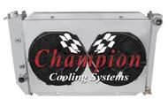 1971 1972 1973 Mercury Cougar 4 Row All Aluminum Radiator Fan Shroud Combo