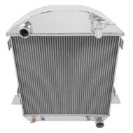 1917 1918 1919 1929 1921 1922 1923 1924 1925 1926 1927 Ford T-BUCKET W/ CHEVY ENGINE 4 Row Radiator