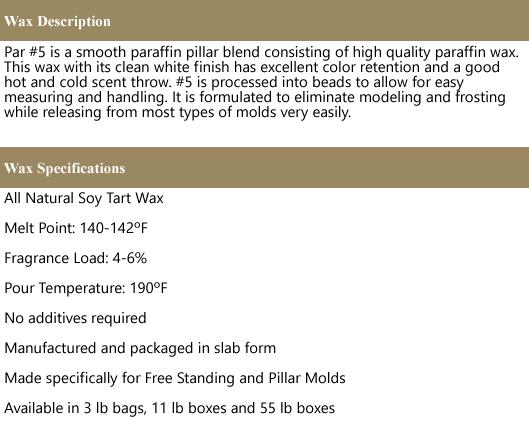 Paraffin #5 Wax (Pillar Blend)