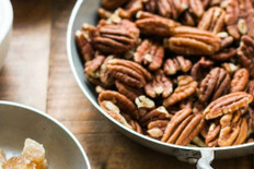 Bourbon Roasted Pecans