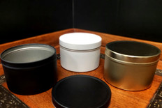 8 oz Matte Finished Tin Containers w/ Lids
