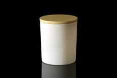 10 oz Matte White Cali Jar w/Lid