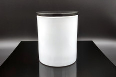 13.5 oz White Gloss Cali Jar w/Lid