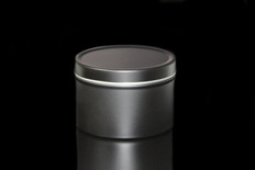 8 oz Matte Black Tin w/Lid