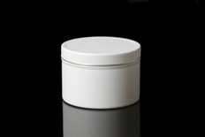 8 oz Matte White Tin w/Lid