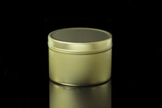 8 oz Gold Tin w/Lid