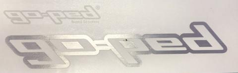 Brushed Metallic GO-PED Sticker