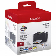 Canon PGI-1500XL High Yield BK/C/M/Y Ink Cartridge Multipack - Front
