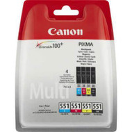 Canon CLI-551 BK/C/M/Y 4 Colour Ink Cartridge (Multipack)