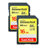 SanDisk Extreme PLUS 16GB SDHC Memory Card - Twin Pack