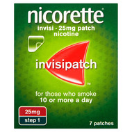 Nicorette Invisi 25mg patch, 7 patches (1 Step)