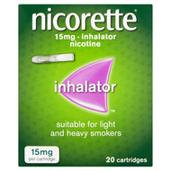 Nicorette Inhalator Nicotine (Stop Smoking Aid) 20 Cartridges 15mg