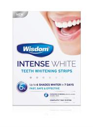 Wisdom Intense White - Teeth Whitening Strips (2 x 7) (6 Shades Whiter in 7 Days)