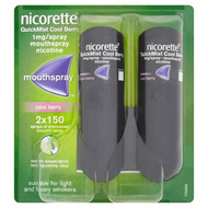 Nicorette QuickMist Cool Berry Duo 2x150 1mg Mouth Spray (Stop Smoking Aid)