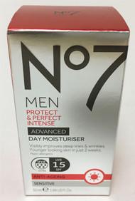 No7 Men Protect & Perfect Intense Advanced Day Moisturiser SPF15 Sensitive 50ml