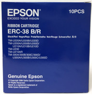 Epson ERC-38 Ribbon Cartridge C43S015376 Black/Red - Pack of 10