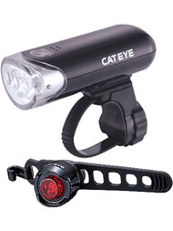 CatEye HL-EL135 and Orb Front/Rear Bike Light Set Black