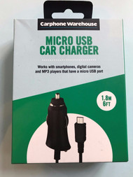 Carphone Warehouse Micro USB Car Charger Black 1.8m 6ft