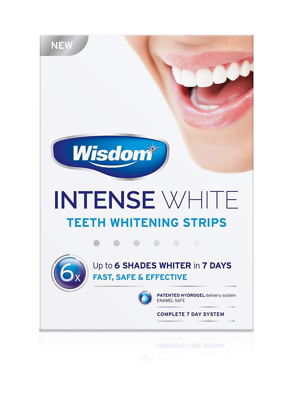 Wisdom Intense White Teeth Whitening Strips 6 Shades Whiter In