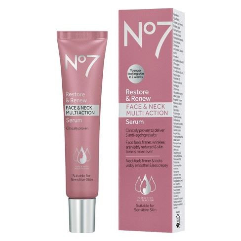 No7 Restore & Renew Face Neck Decollete Multi Action Serum