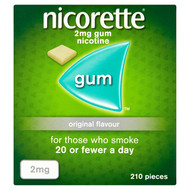 Nicorette Original Flavour Nicotine Gum 2mg 210 Pieces (Stop Smoking Aid)