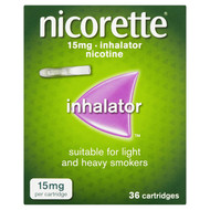 Nicorette 15mg Inhalator 36 Cartridges Nicotine