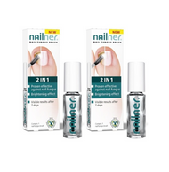 NAILNER Brush 2in1 Fungus Treatment Prevents Fungal Nail Infection 5ml x2
