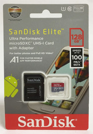 SanDisk Elite Ultra Plus 128GB MicroSDXC UHS-I Memory Card up to 100MB/s