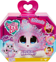 Scruff-A-Luvs Friends-Rescue Pet Soft Toy-Rabbit, Cat or Llama Candy Floss, Multicoloured
