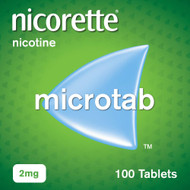 Nicorette Microtab, 2mg, 100 Tablets (Stop Smoking Aid)