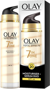 Olay Total Effects 7-in-1 Moisturiser + Serum Duo SPF20 40ml x 2