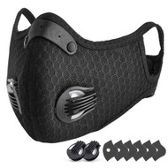 N95 face mask with carbon filter