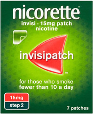 Nicorette Invisi 15mg patch, 7 patches (2 Step)