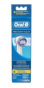 Oral-B Precision Clean Replacement Power Toothbrush Heads 4